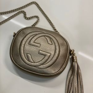 Gucci / Soho Nubuck Leather Mini Chain Bag